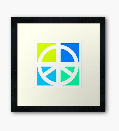 Blocks of Peace Framed Print
