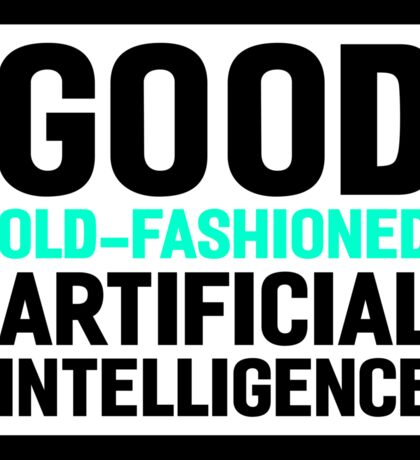 Good old-fashioned AI, black font Sticker
