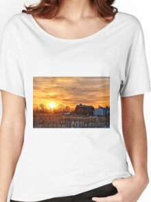 Iowa Winter Sunrise Women's Relaxed Fit T-Shirt