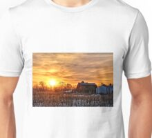 Iowa Winter Sunrise Unisex T-Shirt