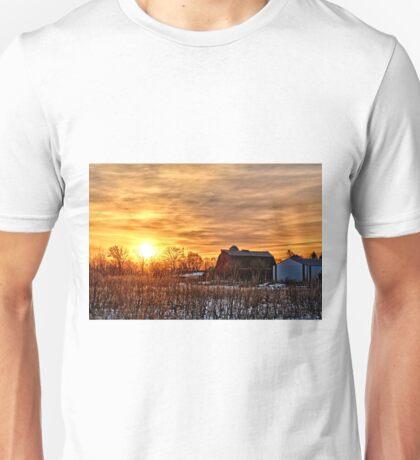 Iowa Winter Sunrise Unisex T-Shirt