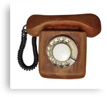 Wooden telephone Canvas Print