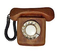 Wooden telephone Photographic Print