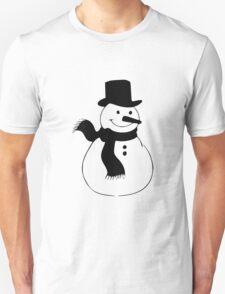 Snowman, winter, Christmas, cold, snow, snowflakes Unisex T-Shirt
