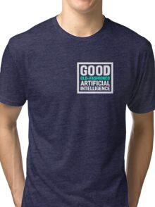 Good old-fashioned AI,white font Tri-blend T-Shirt