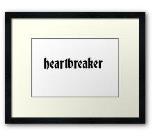 Heartbreaker Graphic Framed Print