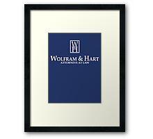Wolfram & Hart - Attorneys At Law Framed Print