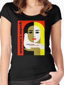 Women's March On Austin Texas 2017 Women's Fitted Scoop T-Shirt