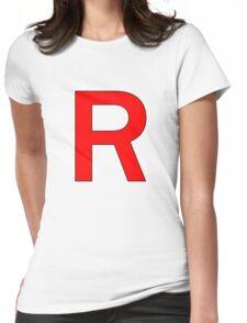 Team Rocket R Logo Womens Fitted T-Shirt