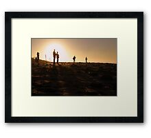 Photographers At Sunset Framed Print