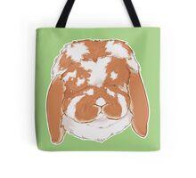 Mini Lop Rabbit - Broken Orange on Green Background / Show Rabbit Bunny ARBA Rabbit Breeds Pet Show Cute Art Tile Textile Tote Bag