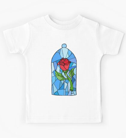 Stained glass Rose  Kids Tee