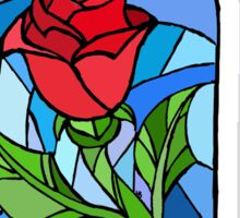 Stained glass Rose  Sticker