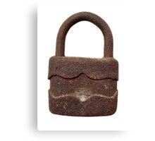 Rusty padlock Canvas Print