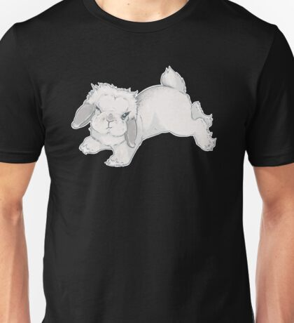 Diva Bunny | Winking Rabbit Frosted Pearl Mini Lop | Cute Hop Hopping ARBA Rabbit Breeds Sassy Blue Frosty Eyelashes Lashes Unisex T-Shirt