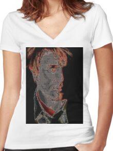 Simon Le Bon Women's Fitted V-Neck T-Shirt