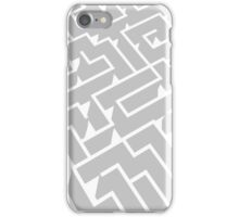 grey and white labyrinth pattern iPhone Case/Skin