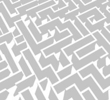 grey and white labyrinth pattern by Escarpatte