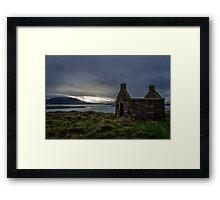 Stone Ruin on Rosses Point - Sligo, Ireland Framed Print