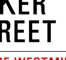 221b Baker Street Sticker