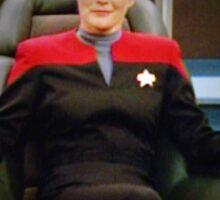 Captain Kathryn Janeway Sticker