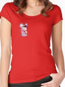 Mouse Osomatsu Women's Fitted Scoop T-Shirt