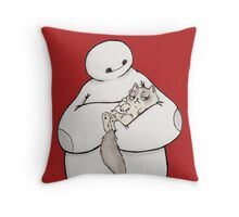 Hairy baby, Grumpy baby Throw Pillow