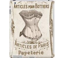 Vintage French Corset Sign iPad Case/Skin