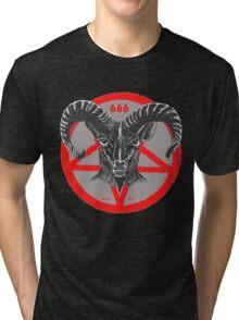 Pentagram Ram Gray Tri-blend T-Shirt