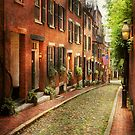 City - Boston MA - Acorn Street by Mike  Savad