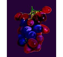 Red & Purple Grapes Photographic Print