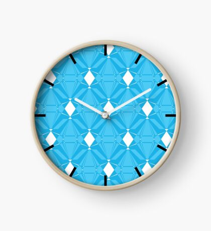 Abstract Emeralds [BLUE] Clock