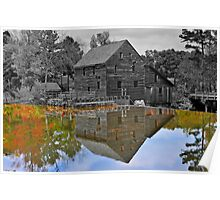 Mirror Image - Grist Mill Reflections Poster