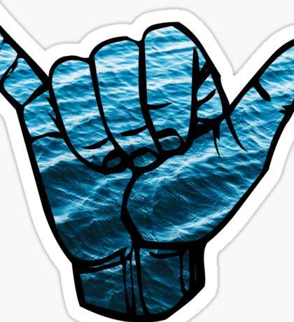 Shaka ASL Waves stickers Sticker