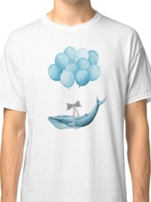 Whale With Balloons - blue Classic T-Shirt