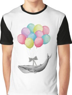 Whale With Balloons - colorful Graphic T-Shirt