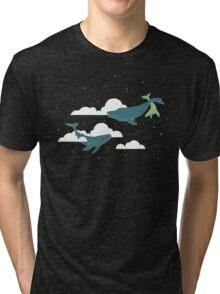 Sky Whales Tri-blend T-Shirt