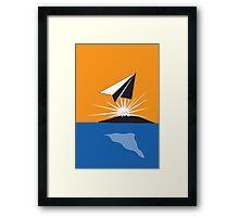 Paper Airplane 77 Framed Print
