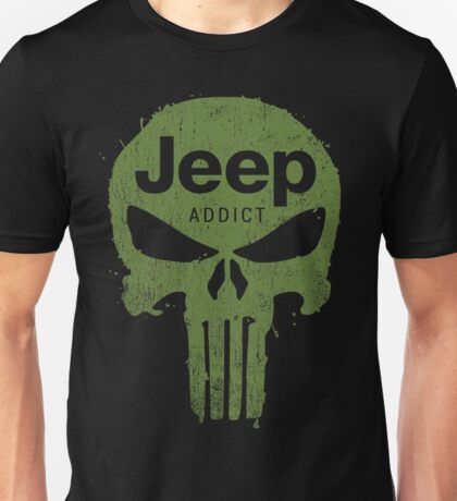 Jeep addict punisher Unisex T-Shirt