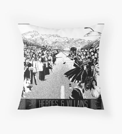 Heroes & Villains Throw Pillow