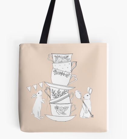 Afternoon Tea with the Bunnies Tote Bag