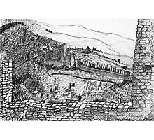 Italy-The view from the Citadel of Assisi Photographic Print
