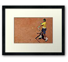 Forehand stroke (Rafael Nadal) Framed Print