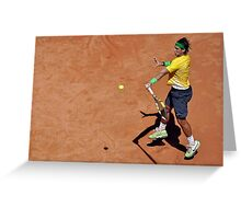 Forehand stroke (Rafael Nadal) Greeting Card