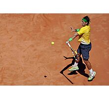 Forehand stroke (Rafael Nadal) Photographic Print