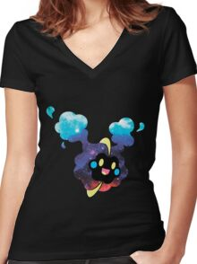 Cosmog (Nebby) Intergalactic Women's Fitted V-Neck T-Shirt