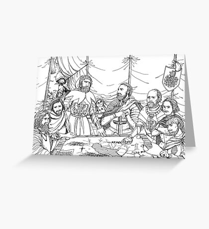 William Tell And Duke Leopold Greeting Card