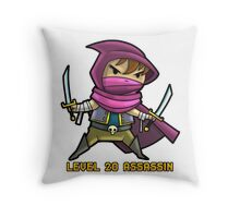 Level 20 Assassin Throw Pillow