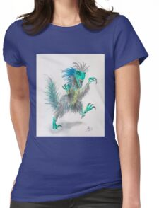 Feathered velociraptor dinosaur Womens Fitted T-Shirt