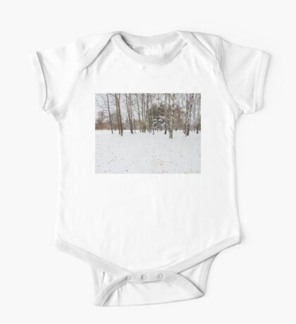 Winter Fall Trees Landscape One Piece - Short Sleeve